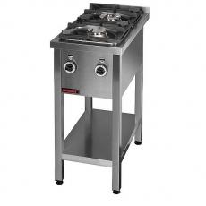 Kuchnia gastronomiczna gazowa 2-palnikowa | KROMET 000.KG-2L<br />model: 000.KG-2L<br />producent: Kromet