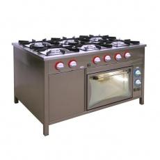 Kuchnia gastronomiczna gazowa 6-palnikowa z piekarnikiem el. | EGAZ TG-6732/PKE-1<br />model: TG-6732/PKE-1<br />producent: Egaz