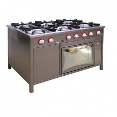 Kuchnia gastronomiczna gazowa 6-palnikowa z piekarnikiem gaz. | EGAZ TG-6737/PG-1<br />model: TG-6737/PG-1<br />producent: Egaz