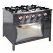 Kuchnia gastronomiczna gazowa 4-palnikowa z piekarnikiem TG-4724/PG-1