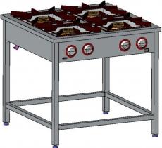 Kuchnia gastronomiczna gazowa 4-palnikowa | EGAZ TG-420.II<br />model: TG-420.II<br />producent: Egaz