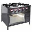 Kuchnia gastronomiczna gazowa 4-palnikowa z piekarnikiem TG-420/PG-1