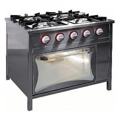 Kuchnia gastronomiczna gazowa 4-palnikowa z piekarnikiem gaz.   EGAZ TG-4725/PG-1<br />model: TG-4725/PG-1<br />producent: Egaz