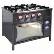 Kuchnia gastronomiczna gazowa 4-palnikowa z piekarnikiem TG-4724/PKE-1