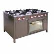 Kuchnia gastronomiczna gazowa 6-palnikowa z piekarnikiem TG-6737/PKE-1