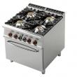 Kuchnia gastronomiczna gazowa 4-palnikowa z piekarnikiem CF4-98GE