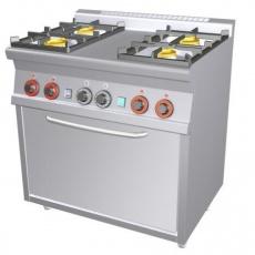 Kuchnia gastronomiczna gazowa 4-palnikowa z piekarnikiem CF4-68G<br />model: 00000672<br />producent: Lotus