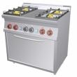 Kuchnia gastronomiczna gazowa 4-palnikowa z piekarnikiem CF4-68G