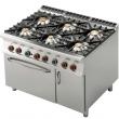 Kuchnia gastronomiczna gazowa 6-palnikowa z piekarnikiem CF6-912GV
