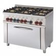 Kuchnia gastronomiczna gazowa 6-palnikowa z piekarnikiem CF6-610G