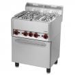 Kuchnia gastronomiczna gazowa 4-palnikowa z piekarnikiem SPT 60 GL