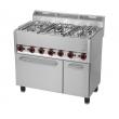 Kuchnia gastronomiczna gazowa 5-palnikowa z piekarnikiem i szafką SPT 90/5 GL