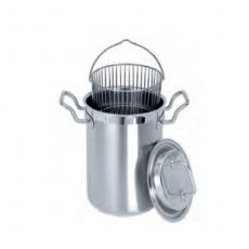 Garnek ze stali nierdzewnej do gotowania szparagów - poj. 4.5 l<br />model: T-6660<br />producent: Tom-Gast