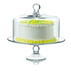 Patera szklana na ciasto z pokrywą<br />model: LB-55782<br />producent: Tom-Gast