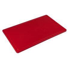 Deska z polietylenu HACCP czerwona<br />model: T-3045-R<br />producent: Tom-Gast