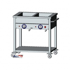 Bemar elektryczny jezdny 2xGN1/1 | EGAZ BE-2JS<br />model: BE-2 JS<br />producent: Egaz