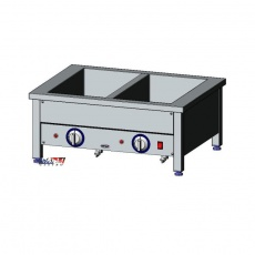 Bemar elektryczny stołowy 2xGN1/1 | EGAZ BE-2NS<br />model: BE-2 NS<br />producent: Egaz