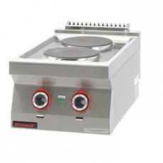 Kuchnia gastronomiczna elektryczna 2-płytowa | KROMET 700.KE-2<br />model: 700.KE-2.A<br />producent: Kromet