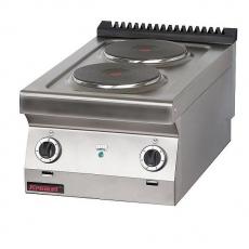 Kuchnia gastronomiczna elektryczna 2-płytowa | KROMET 700.KE-2<br />model: 700.KE-2<br />producent: Kromet