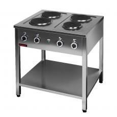 Kuchnia gastronomiczna elektryczna 4-płytowa | KROMET 000.KE-4M<br />model: 000.KE-4M<br />producent: Kromet
