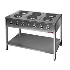 Kuchnia gastronomiczna elektryczna 6-płytowa | KROMET 000.KE-6M<br />model: 000.KE-6M<br />producent: Kromet