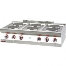 Kuchnia gastronomiczna elektryczna 6-płytowa | KROMET 700.KE-6<br />model: 700.KE-6.A<br />producent: Kromet