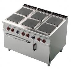 Kuchnia gastronomiczna elektryczna 6-płytowa z piekarnikiem CFQ6-912ETV<br />model: 00001028<br />producent: Lotus