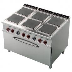 Kuchnia gastronomiczna elektryczna 6-płytowa z piekarnikiem CFQ6-912ET<br />model: 00001030<br />producent: Lotus