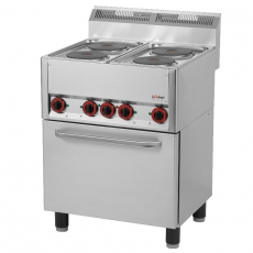 Kuchnia gastronomiczna elektryczna 4-płytowa z piekarnikiem SPT 60 ELS<br />model: 00000536<br />producent: Redfox