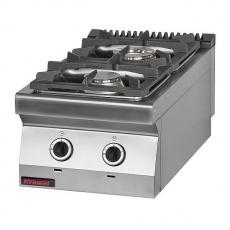 Kuchnia gastronomiczna gazowa 2-palnikowa | KROMET 700.KG-2<br />model: 700.KG-2<br />producent: Kromet