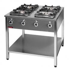 Kuchnia gastronomiczna gazowa 4-palnikowa | KROMET 000.KG-4L<br />model: 000.KG-4L<br />producent: Kromet