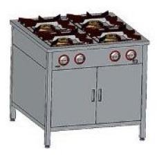 Kuchnia gastronomiczna gazowa 4-palnikowa z szafką | EGAZ TG-4720.IV<br />model: TG-4720.IV<br />producent: Egaz