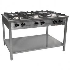 Kuchnia gastronomiczna gazowa 6-palnikowa | EGAZ TG-6732.III<br />model: TG-6732.III<br />producent: Egaz