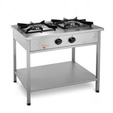 Kuchnia gastronomiczna gazowa 2-palnikowa | EGAZ KG-123<br />model: KG-123<br />producent: Egaz