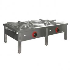 Taboret gastronomiczny gazowy 2-palnikowy | EGAZ TG-214.I<br />model: TG-214.I<br />producent: Egaz