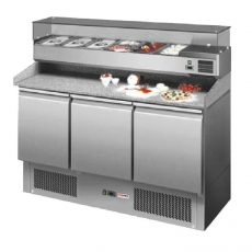 Stół chłodniczy do pizzy 3-drzwiowy z chłodzoną nadstawką SP-903<br />model: 00007345<br />producent: Redfox