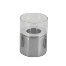 Świecznik stalowo-szklany<br />model: T-11103<br />producent: Tom-Gast