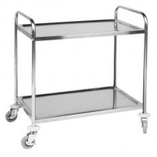 Wózek kelnerski nierdzewny 2-półkowy składany<br />model: 810002<br />producent: Hendi