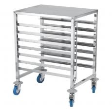 Wózek nierdzewny składany do tac i pojemników GN<br />model: 810668<br />producent: Hendi