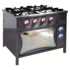 Kuchnia gastronomiczna gazowa 4-palnikowa z piekarnikiem el.   EGAZ TG-424/PKE-1<br />model: TG-424/PKE-1<br />producent: Egaz