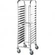 Wózek nierdzewny składany do blach piekarniczych / model - 662461