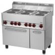 Kuchnia gastronomiczna elektryczna 6-płytowa z piekarnikiem i szafką SPT 90 ELS 00000538
