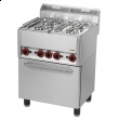 Kuchnia gastronomiczna gazowa 4-palnikowa z piekarnikiem SPT 60 GL  00000539
