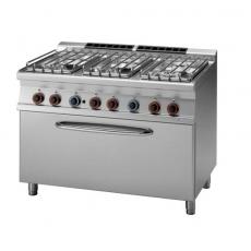 Kuchnia gastronomiczna gazowa 6-palnikowa z piekarnikiem CF6-712 GE/P<br />model: 00000971<br />producent: Lotus