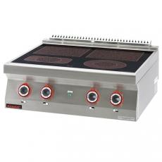 Kuchnia gastronomiczna elektryczna ceramiczna 4-polowa | KROMET 700.KE-4C<br />model: 700.KE-4C.A<br />producent: Kromet