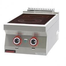 Kuchnia gastronomiczna elektryczna ceramiczna 2-polowa | KROMET 700.KE-2C<br />model: 700.KE-2C.A<br />producent: Kromet
