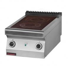 Kuchnia gastronomiczna elektryczna ceramiczna 2-polowa   KROMET 700.KE-2C<br />model: 700.KE-2C<br />producent: Kromet
