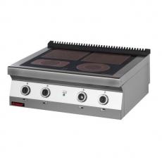 Kuchnia gastronomiczna elektryczna ceramiczna 4-polowa   KROMET 700.KE-4C<br />model: 700.KE-4C<br />producent: Kromet