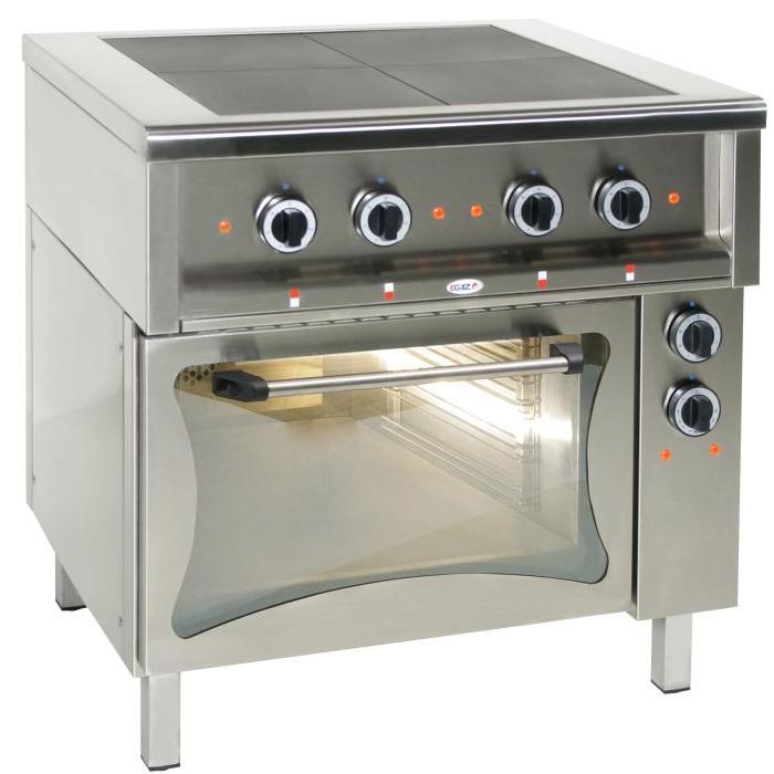 Kuchnia gastronomiczna elektryczna 4 płytowa z piekarnikiem KE 47K PKE 1 -> Kuchnia Elektryczna Gastronomiczna Używana