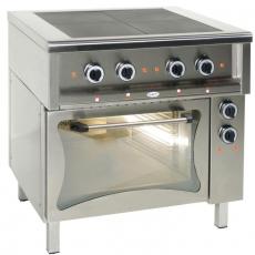 Kuchnia gastronomiczna elektryczna 4-płytowa z piekarnikiem el. | EGAZ KE-47K/PKE-1<br />model: KE-47K/PKE-1<br />producent: Egaz